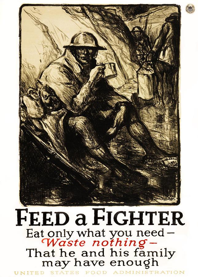 World War Photograph - World War 1 - U. S. War Poster by Daniel Hagerman