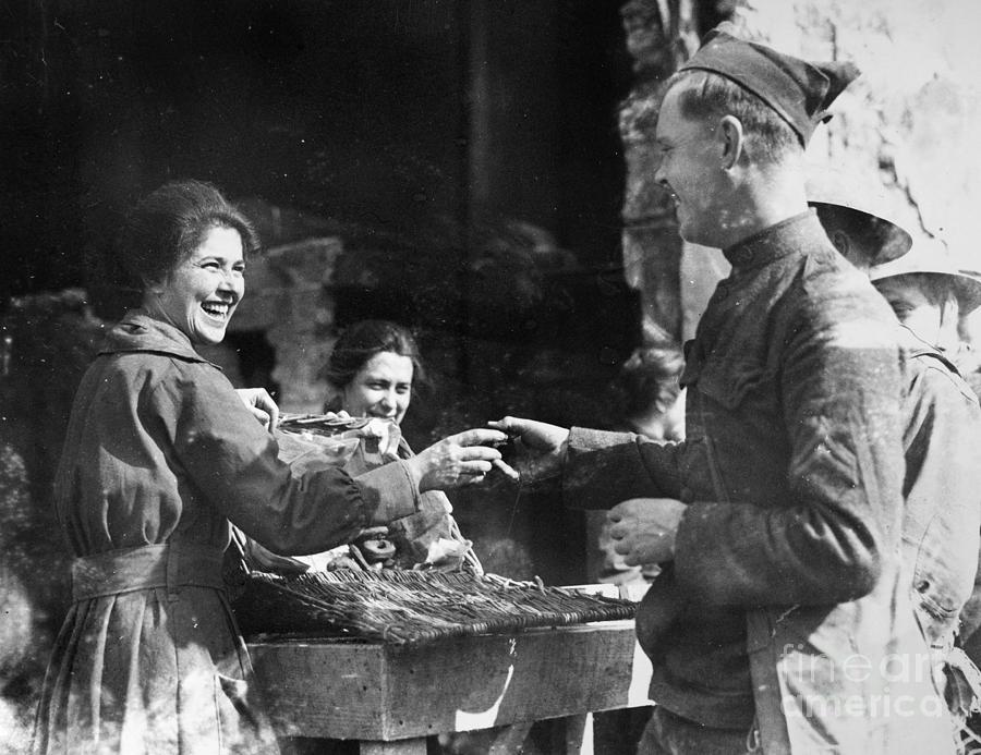 1918 Photograph - World War I - Infantryman by Granger