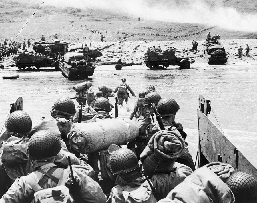 1944 Photograph - World War II: D-day, 1944 by Granger