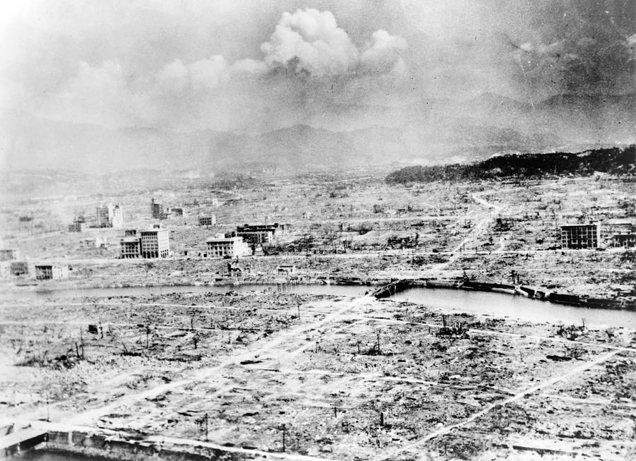 1945 Photograph - World War II Hiroshima by Granger