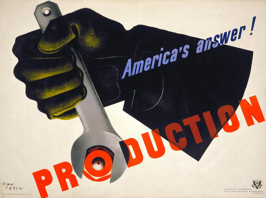 1941 Photograph - World War II Poster, 1941 by Granger