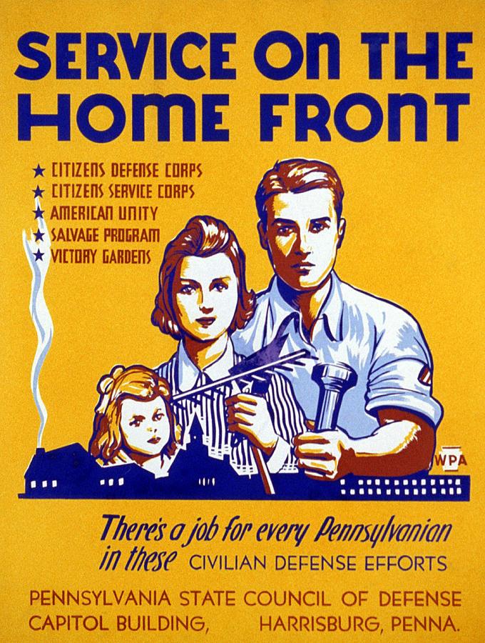 1943 Photograph - World War II Poster, C1943 by Granger
