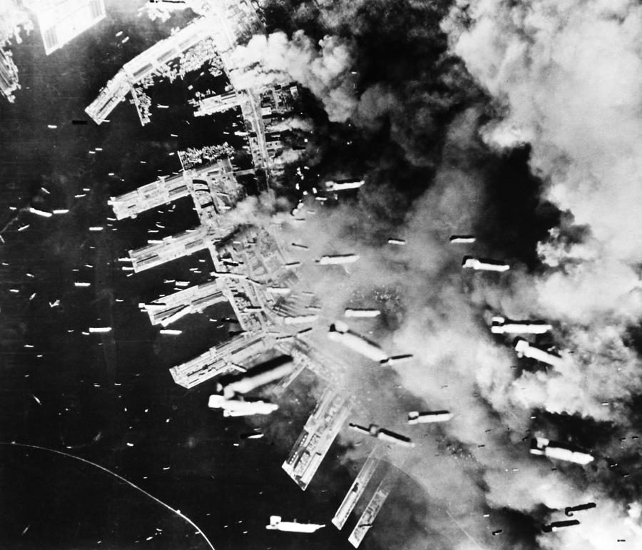 1945 Photograph - World War II: U.s. Air Raid by Granger