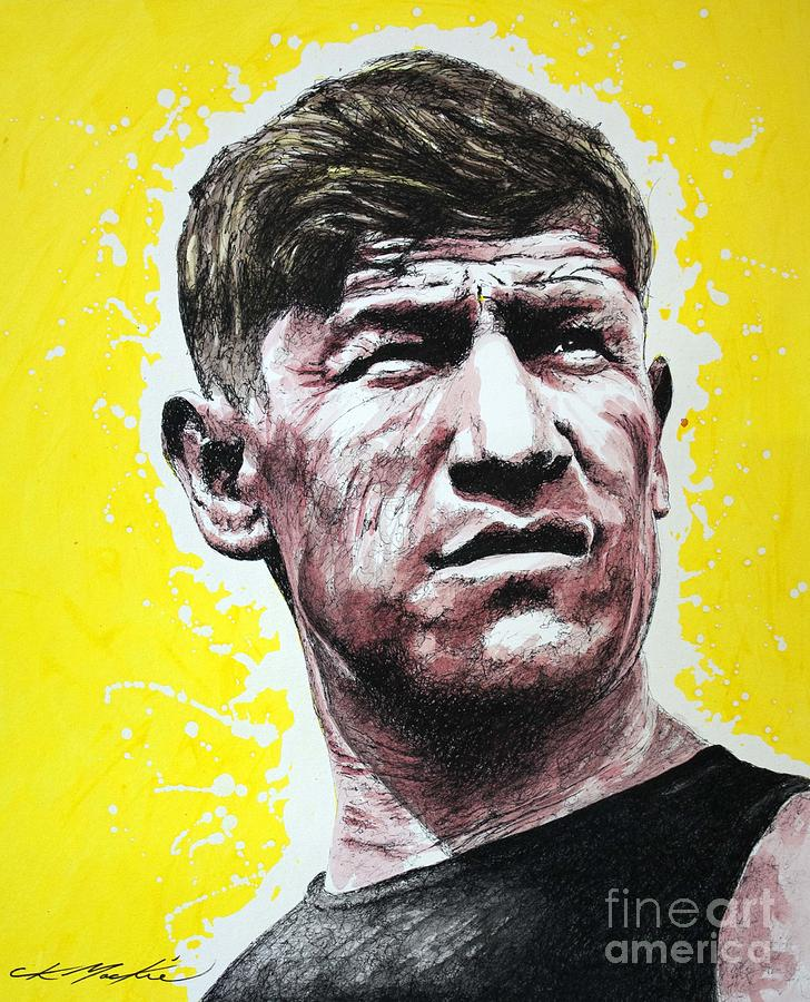 Jim Painting - Worlds Greatest Athlete by Chris Mackie