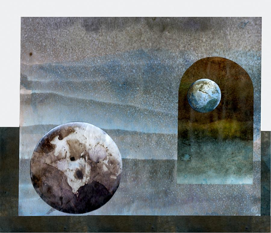 Watercolor Mixed Media - Worlds In Worlds In Worlds by Gun Legler