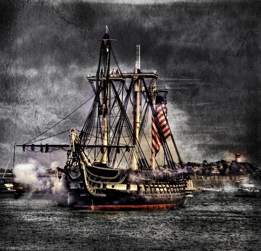 Boston Massachusetts Photograph - Worlds Oldest Commissioned Warship Afloat - Uss Constitution by Ludmila Nayvelt