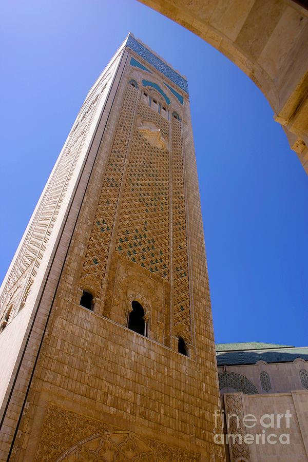 Casablanca Photograph - Worlds Tallest Minaret at 210m Hassan II Mosque Grand Mosque Sour Jdid Casablanca Morocco by PIXELS  XPOSED Ralph A Ledergerber Photography