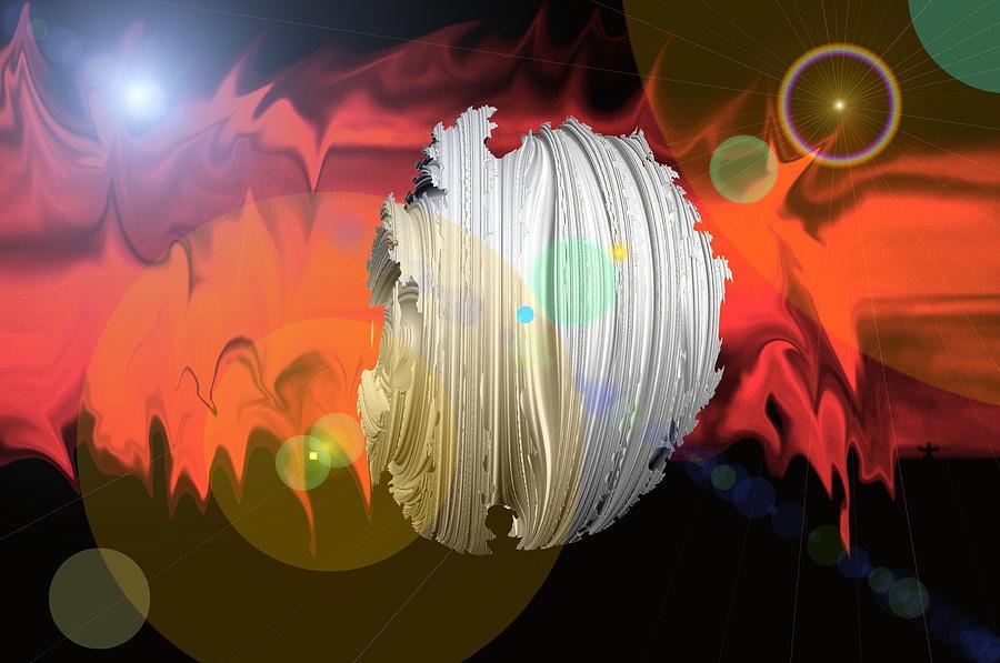 Dark Photograph - Wormhole Predator by Jeff Swan