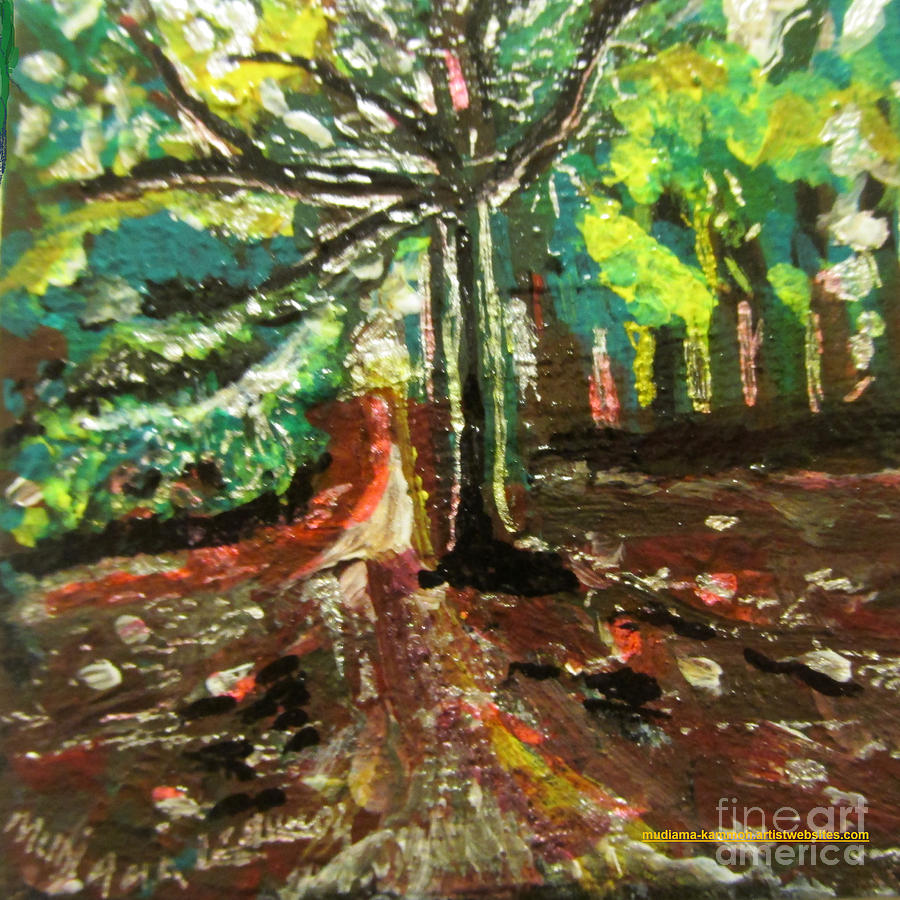 Landscape Painting - Wormwood Scrubs Walk 01 by Mudiama Kammoh