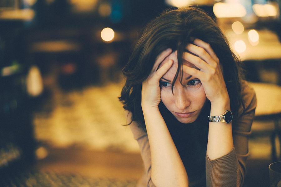 Worried woman Photograph by Photo by Rafa Elias