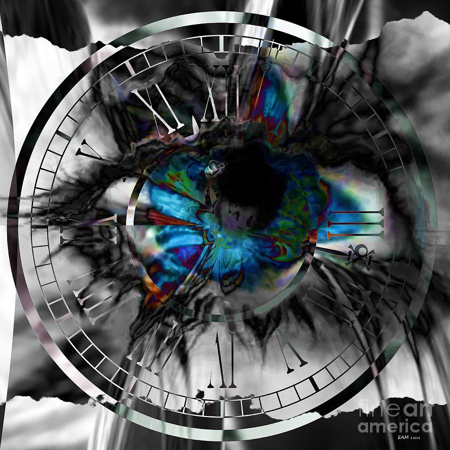 Imagery Digital Art - Worry The Clock by Elizabeth McTaggart