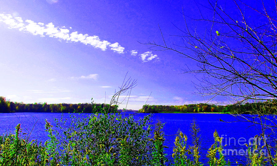 Landscape Photograph - Worster Lake Autumn 2011 by Tina M Wenger