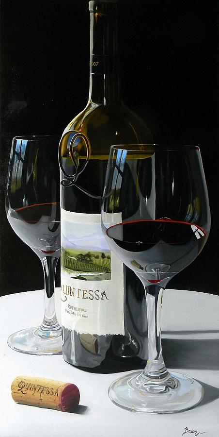 Wine Art Paintings Painting - Worth The Wait by Brien Cole