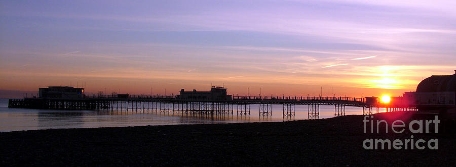 Sunset Photograph - Worthing Pier Sunset by Mark Bowden