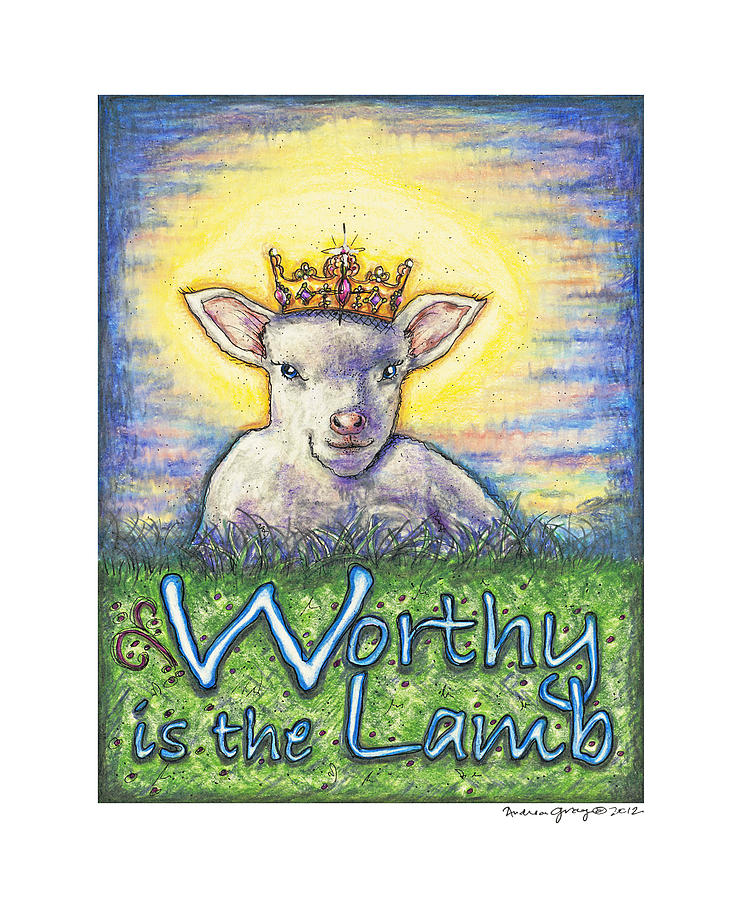 Jesus Sculpture - Worthy Is The Lamb by Andrea Gray