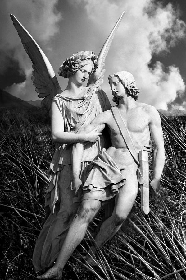 Angel Photograph - Wounded by Marc Huebner