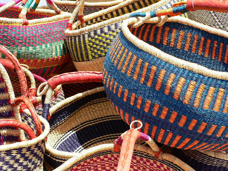 Woven Photograph - Woven Baskets by Jeff Lowe