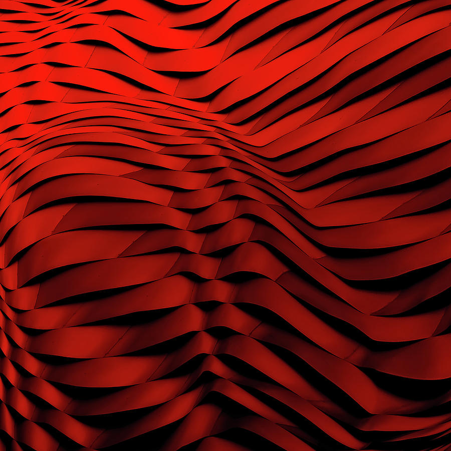 Abstract Photograph - Woven Wave by Gilbert Claes