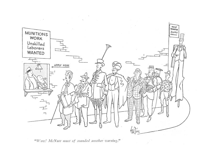 Wow! Mcnutt Must Of Sounded Another Warning Drawing by George Price