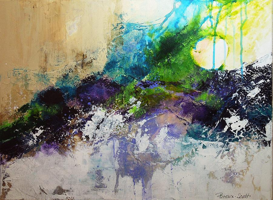 Seascape Mixed Media - Wrapped Around the Sun by Jo Ann Brown-Scott