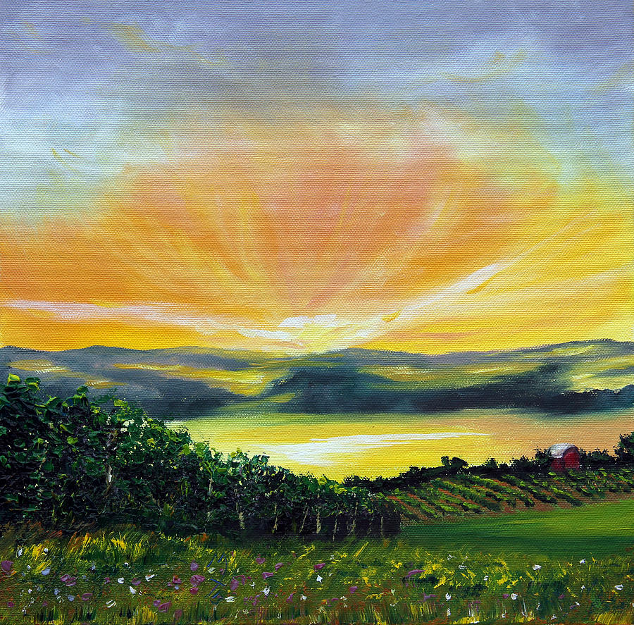 Nature Painting - Wrapped In Light by Meaghan Troup