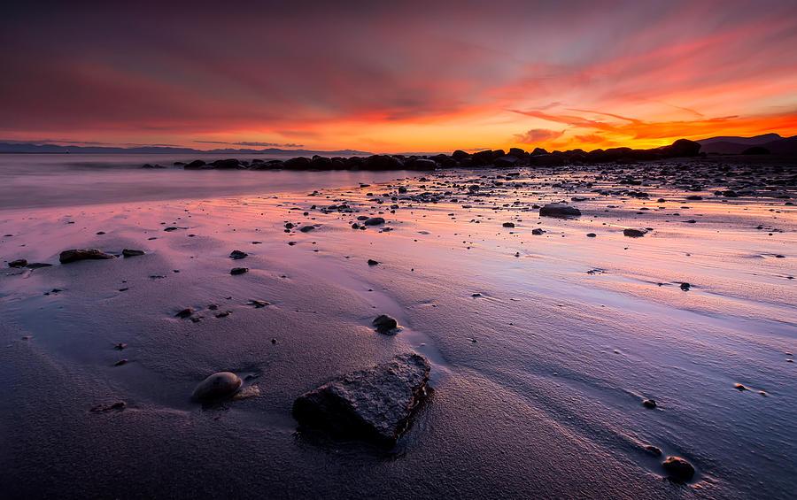 Wreck Beach Photograph - Wreck Beach Sunset by Alexis Birkill