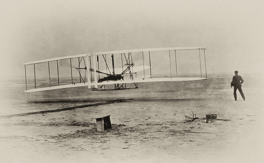 Wright Brothers Photograph - Wright Brothers - First In Flight by Bill Cannon