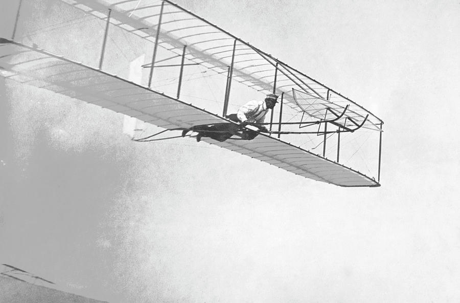 Aeroplane Photograph - Wright Brothers Glider by Us Air Force/science Photo Library