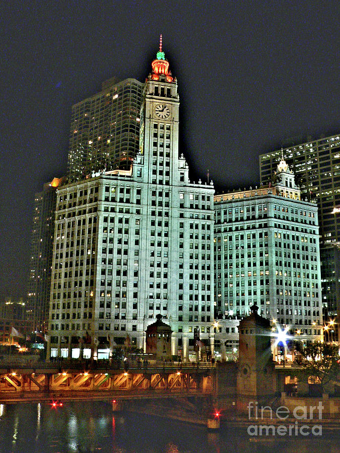 Wrigley Building Photograph - Wrigley At Halloween by David Bearden