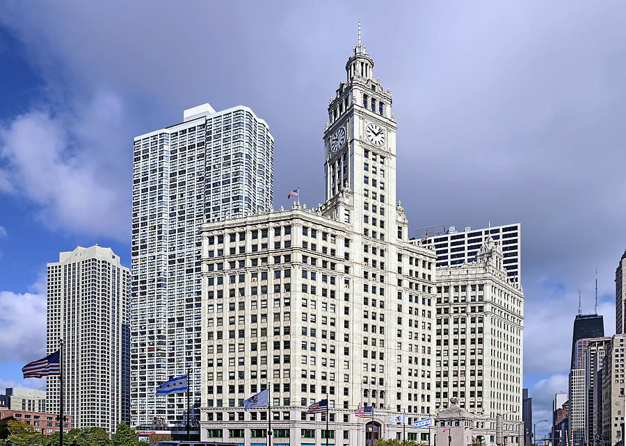 Chicago Photograph - Wrigley Building Chicago by Christine Till