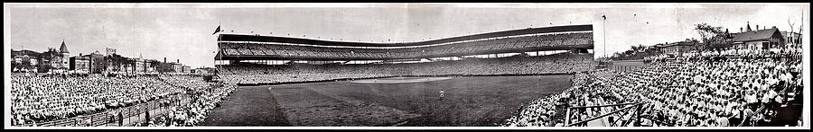 Chicago Photograph - Wrigley Field 1929 Panorama by Benjamin Yeager