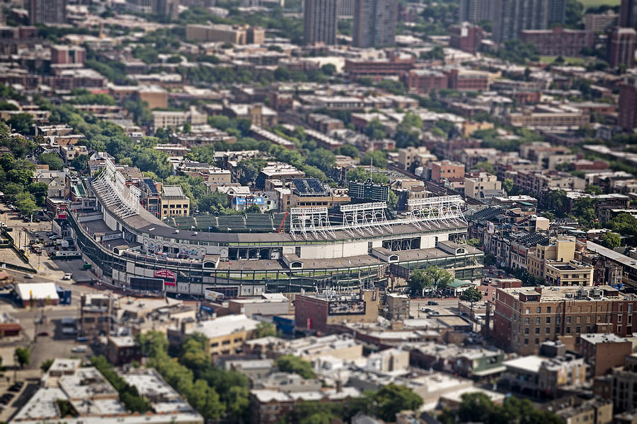 3scape Photos Photograph - Wrigley Field - Home Of The Chicago Cubs by Adam Romanowicz