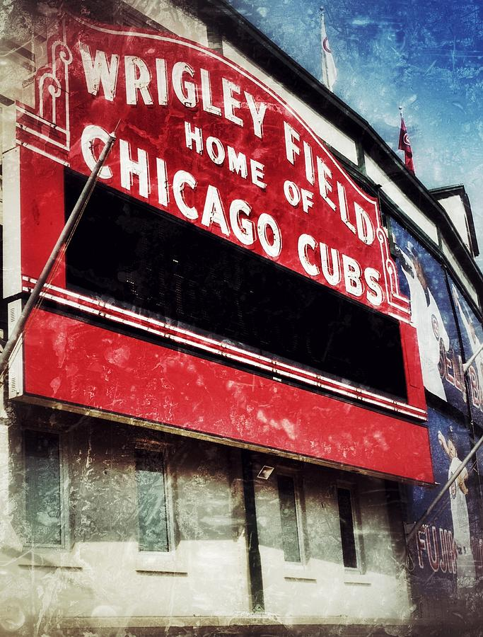 Cubs Photograph - Wrigley Red by Jame Hayes