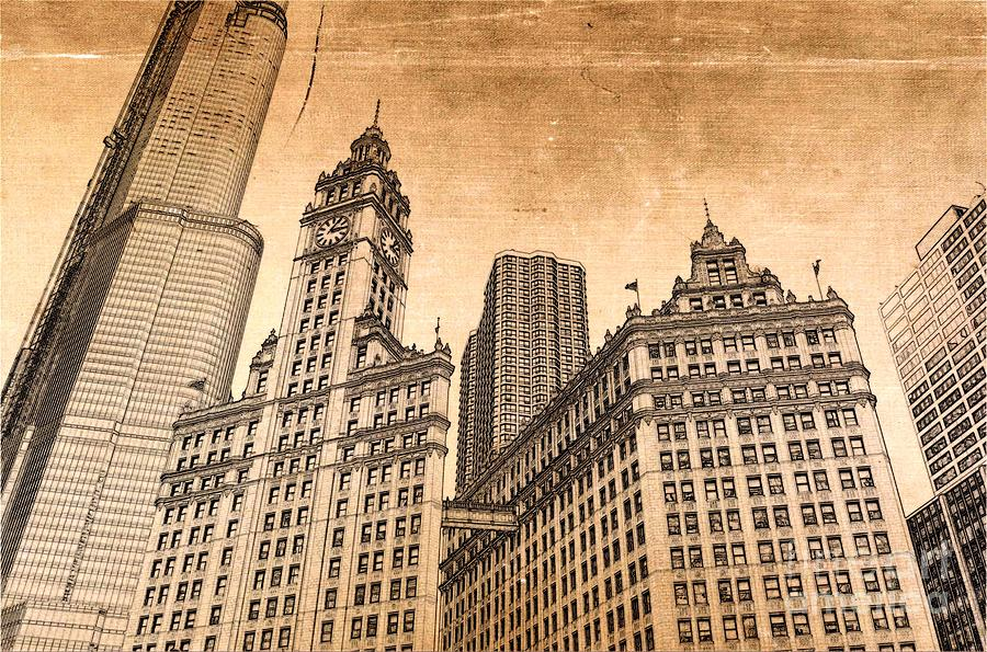 Wrigley Tower Photograph - Wrigley Tower Chicago by Dejan Jovanovic