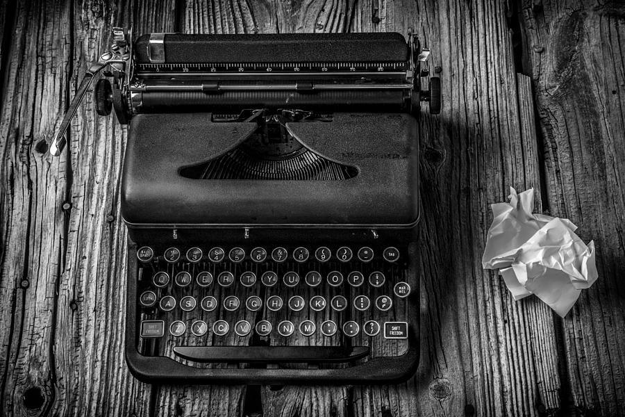 Old Typewriter Photograph - Write Me by Garry Gay