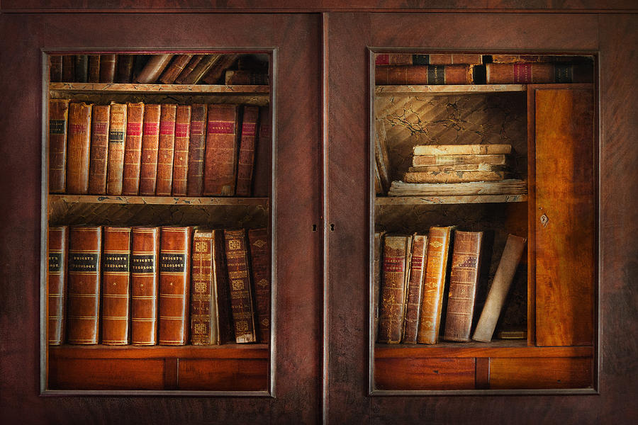 Old Fashioned Photograph - Writer - Books - The Book Cabinet  by Mike Savad