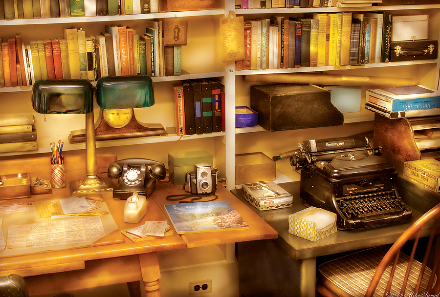 Savad Photograph - Writer - The Desk Of A Writer  by Mike Savad