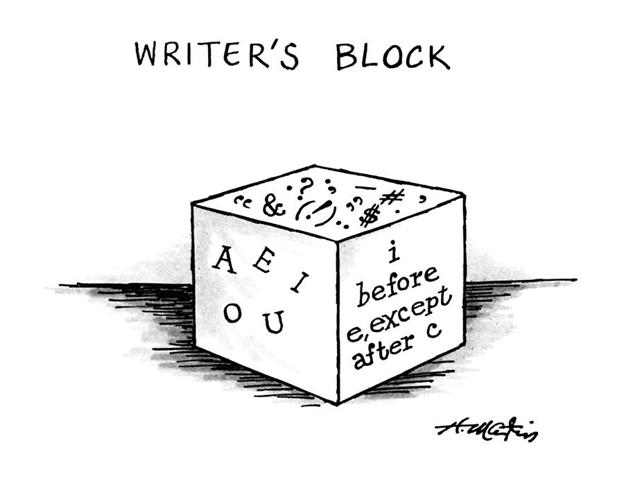 Writers Block Drawing by Henry Martin