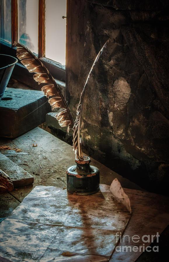 Sturbridge Photograph - Written By Windowlight by Scott Thorp