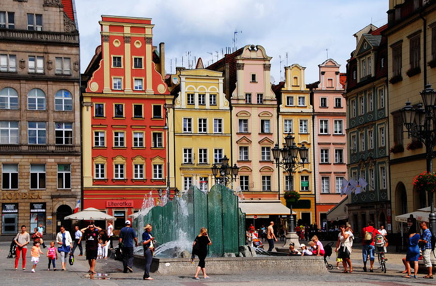 Wroclaw Photograph - Wroclaw Old Town In Poland by Jacqueline M Lewis