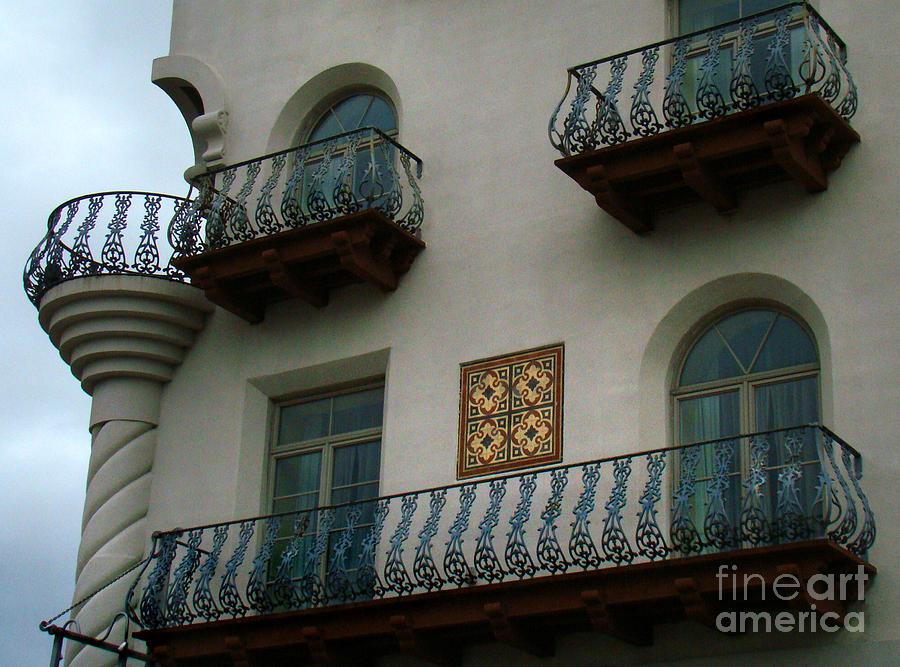 Still Life Photograph - Wrought Iron Balconies by Eva Kato