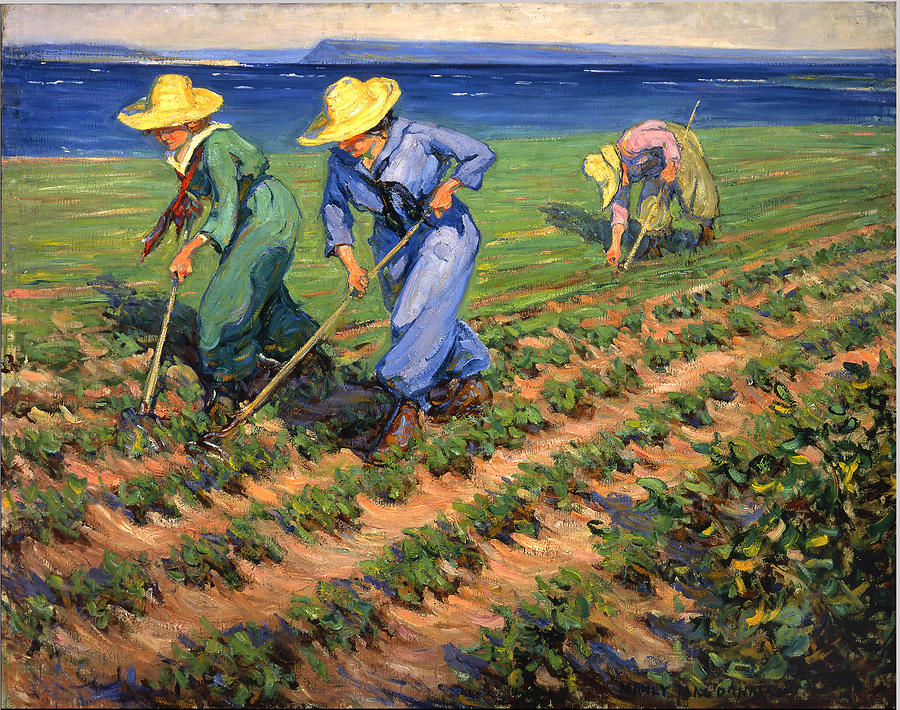 Ww1 Photograph - Ww1 Land Girls Farming Painting Print by Georgia Fowler