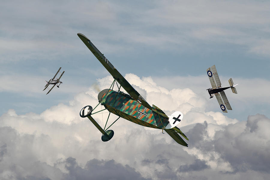 Aircraft Digital Art - Ww1 - Spoiled For Choice by Pat Speirs