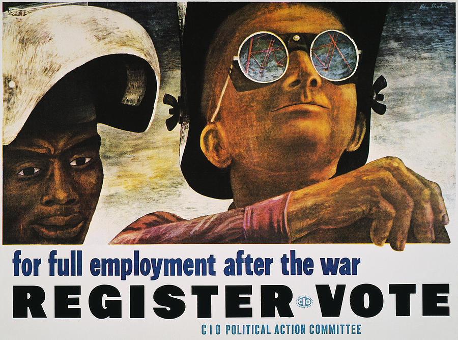 1944 Photograph - Wwii: Employment Poster by Granger