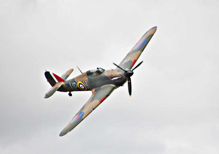 Plane Photograph - Wwii Fighter Plane The Hurricane by Tom Conway