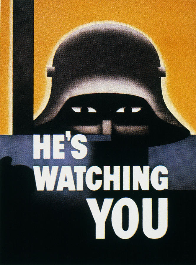 1942 Photograph - Wwii: Propaganda Poster by Granger