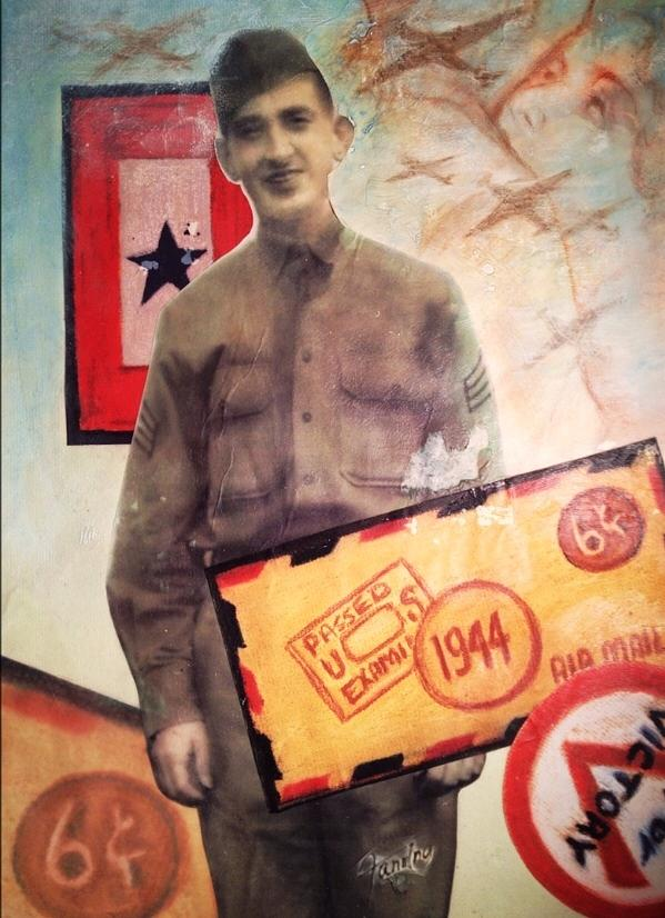 World War Ll Mixed Media - Wwll Americana Part I by Mary Fanning