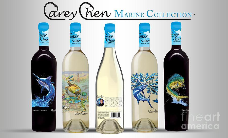 Wines Glass Art - www.CareyChenWine.com by Carey Chen