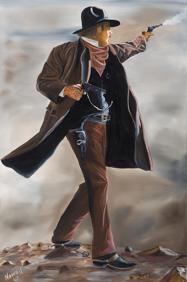 wyatt earp tombstone painting by peter nowell