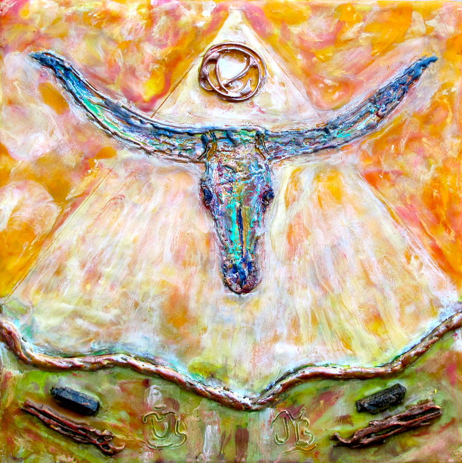 Southwest Painting - Wyatt The Longhorn by Joe Bourne